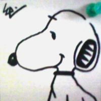 Snoopy Post-It by dark-es-will