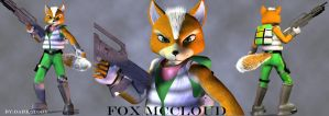 Fox McCloud model overview by DarkStory