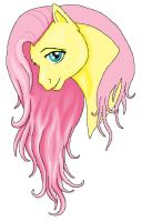 Fluttershy in MS Paint WIP by orxlen