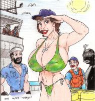 Busty Lady Jaye Beachwear by Crash2014