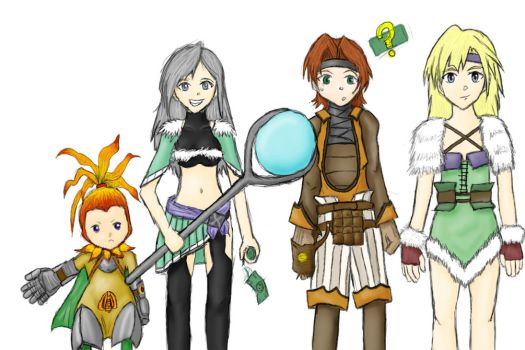 Crystal Chronicles Fighters by ruinedwalls