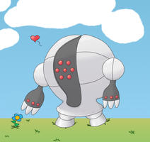 Cute Registeel x3 by Jcdr