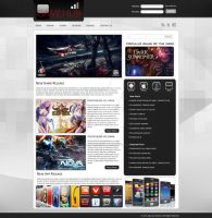 Mobile Games and Apps Blog Webpage Design by ExoroDesigns