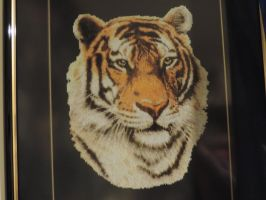 Tiger Cross-Stitch by MalteseSparrow