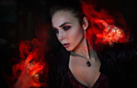 Scarlet Witch cosplay by DollyRock