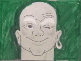 Mr. Clean with a green background by dth1971