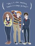 The Golden Trio by galacticpetunia