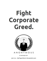 Fight Corporate Greed by OpPaperStorm