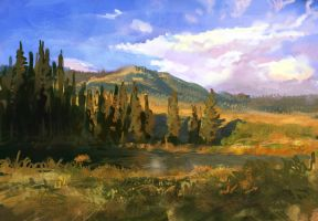 landscape sketch by SHadoW-Net