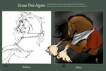 :Draw it again:  Knight horse by watchfulshepherd