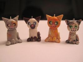 Cat charms, group 3 by Blazesnbreezes