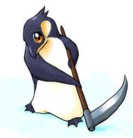 Chibi-Penguin-Death by Dice-K