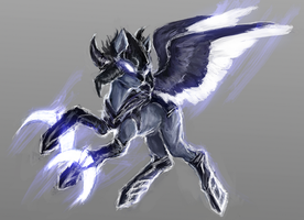 MLP armored pegasus auction closed by ElkaArt
