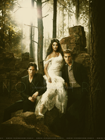 Ian Somerhalder Ashley Greene Paul Wesley by N0xentra