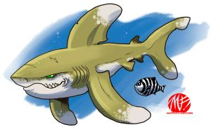 Shark Week 2012 - Oceanic Whitetip by KaijuSamurai