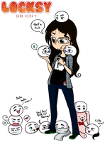 A surrounded geeky dork by Locksy-V