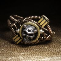 Steampunk Skull Ring 2 by CatherinetteRings