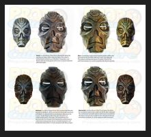 Dragon Priest Masks Skyrim by Jay-Michael-Lee