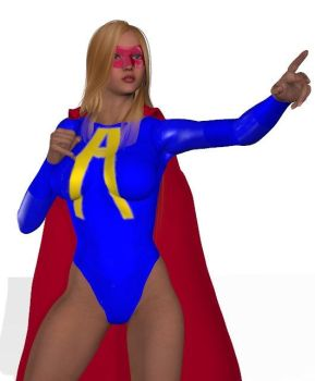 3D version of superheroine Alexa - Angel by Seijiro-kun