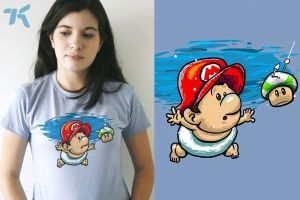 Nevermind Mario T Shirt by ChamaCamisetas