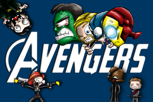 CHIBI AVENGERS... BY SYD TOON by Jigsawlacrimosa