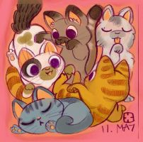 Kittens by StressedJenny