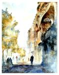 Barcelona watercolour by Kegriz