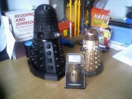 Dalek family by Alondra-chui