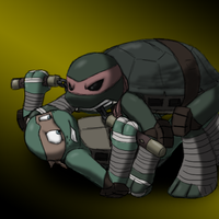 Parasitica - Mikey vs Raph by MetaLatias5
