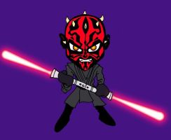 Darth Chibi Maul by KiubezUndermann