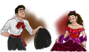Luciano and Aleida by GreaseZelda