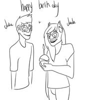 Happy birthday, dorks! by FancyPancake55
