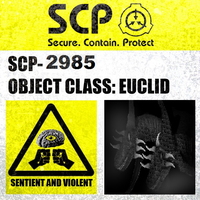 SCP-2985 Label by Dragonrage19