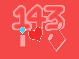 Love Code 143 (i=1, love=4, you=3) by fAmEnXt