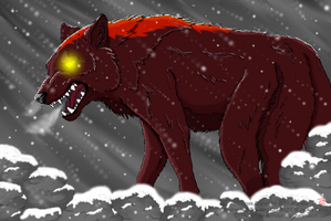 The Wolf Akakabuto by DragonHeartLuver