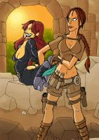 S Savage and L Croft pic 01 by JinksLizard