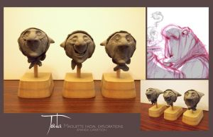 Toula Maquette Heads by travelingpantscg
