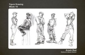 Gesture Drawings - Week 10 by Arashocky