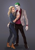 Suicide Squad Movie: Joker and Harley by kotatsucats