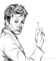 Tenth Doctor sketch by TrillianAstra