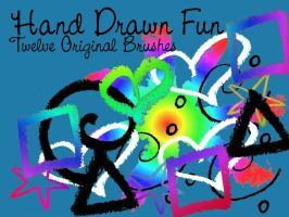 Hand Drawn Fun Brushes by surfing-ant
