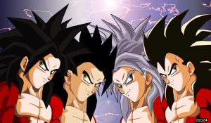 The Four SSJ4's by cb024