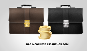 Free Bag and Coins Finance Icons PSD for Free by cssauthor