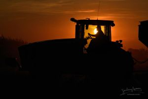 Tractor Silhouette by AppareilPhotoGarcon