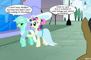 MLP - 'Canterlot Lane' w dialogue by Krekka01
