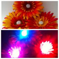 Fire Flower Rainbow LED Hair Clip Rave Accessory by GeekStarCostuming