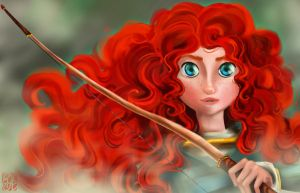 Merida - Brave by applejaxshii
