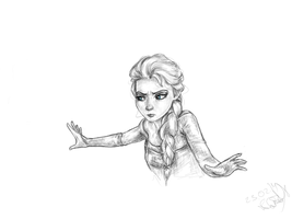 Elsa, Frozen by ArtfulFoxes
