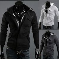 Assassin's Creed three pure color zipper hoodie by cosplaysky123