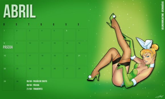 Calendario Abril by LunchBreakTime